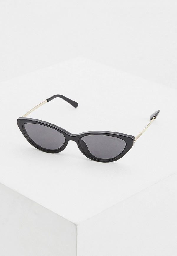 женские солнцезащитные очки кошачьи глаза michael kors, черные