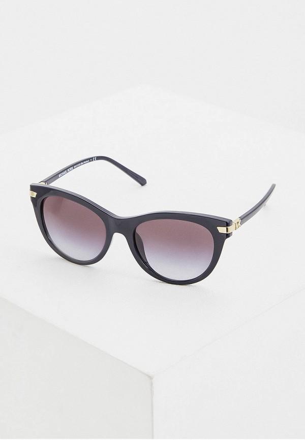 женские круглые солнцезащитные очки michael kors, синие