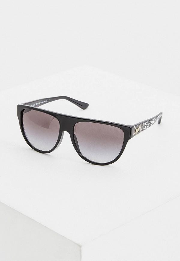 женские круглые солнцезащитные очки michael kors, черные