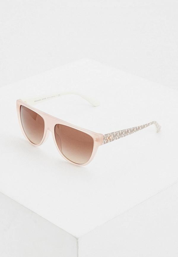 женские круглые солнцезащитные очки michael kors, розовые