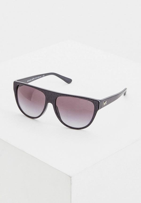 женские круглые солнцезащитные очки michael kors, серые