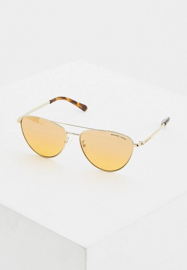 женские солнцезащитные очки кошачьи глаза michael kors, оранжевые