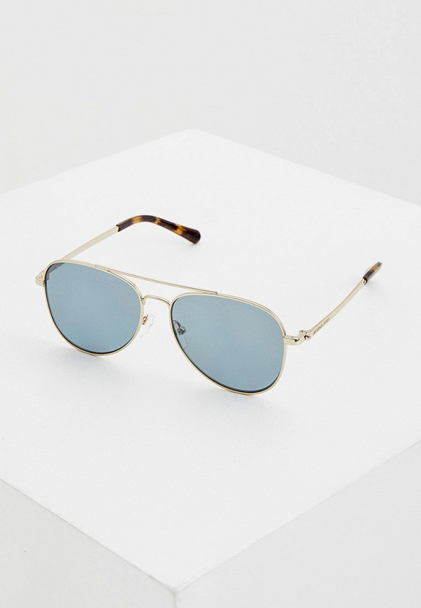 женские авиаторы солнцезащитные очки michael kors, коричневые