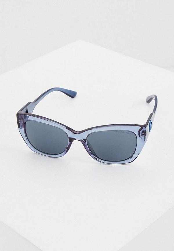 женские солнцезащитные очки кошачьи глаза michael kors, синие