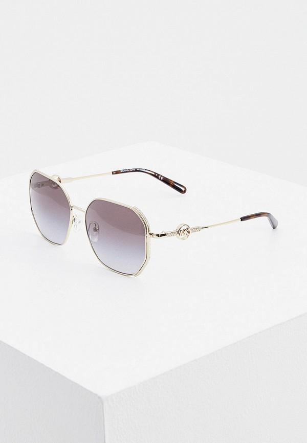 женские круглые солнцезащитные очки michael kors, серебряные