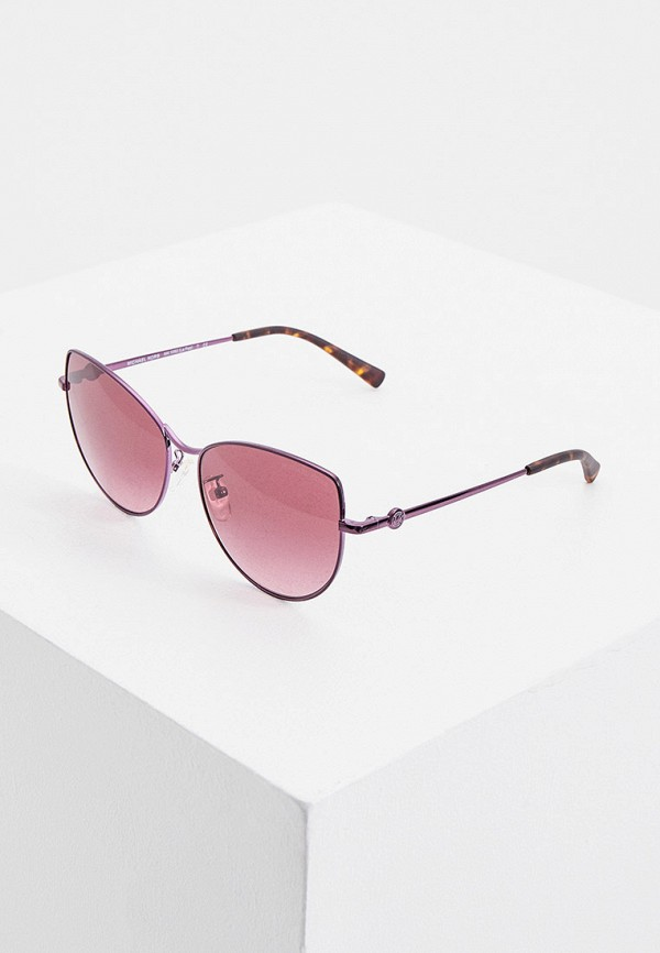 женские солнцезащитные очки кошачьи глаза michael kors, фиолетовые