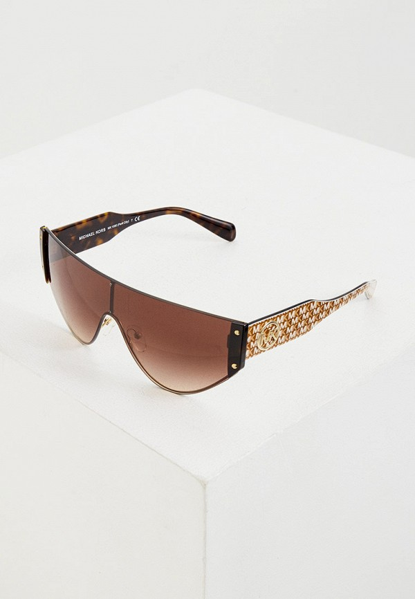 женские солнцезащитные очки michael kors, коричневые