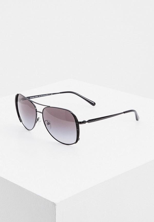 женские авиаторы солнцезащитные очки michael kors, черные