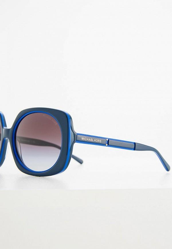 Фото 4 - Очки солнцезащитные Michael Kors синего цвета