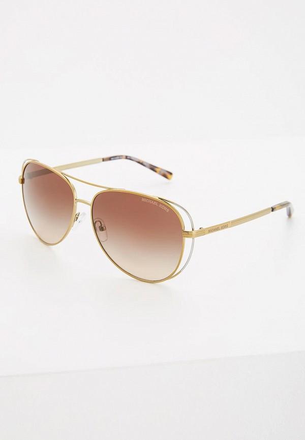 женские авиаторы солнцезащитные очки michael kors, золотые