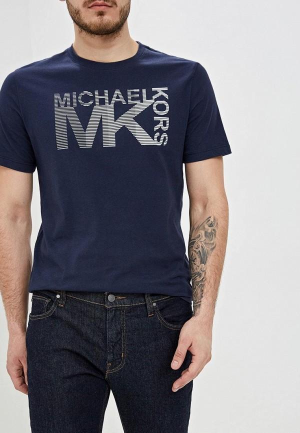 мужская футболка michael kors, синяя