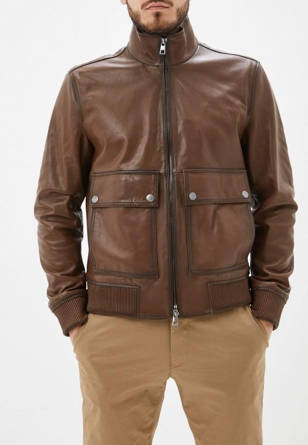 Купить Куртку кожаная Michael Kors коричневого цвета