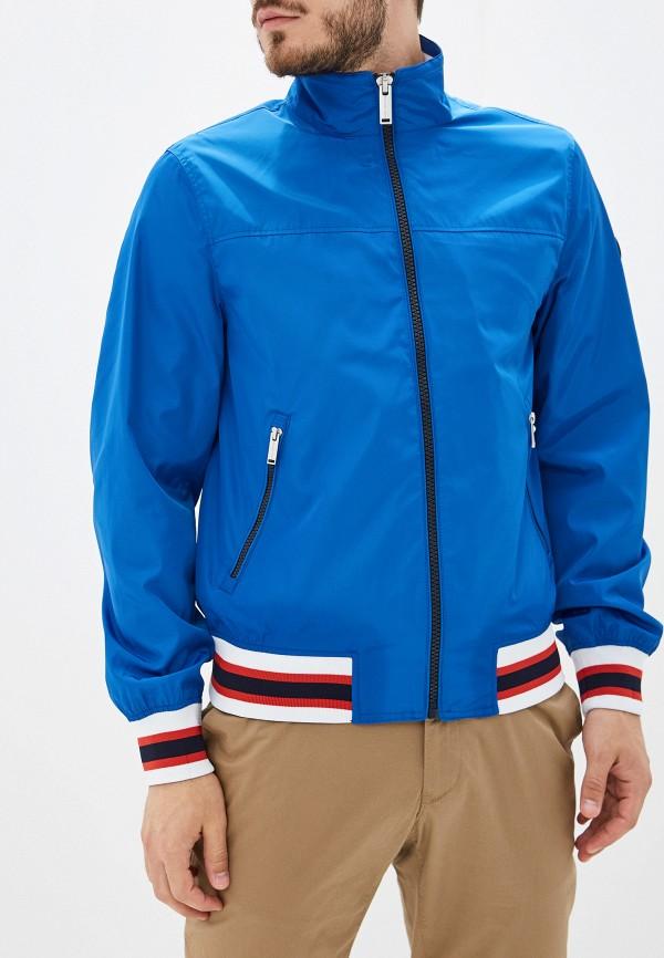 Купить мужскую ветровку Michael Kors синего цвета