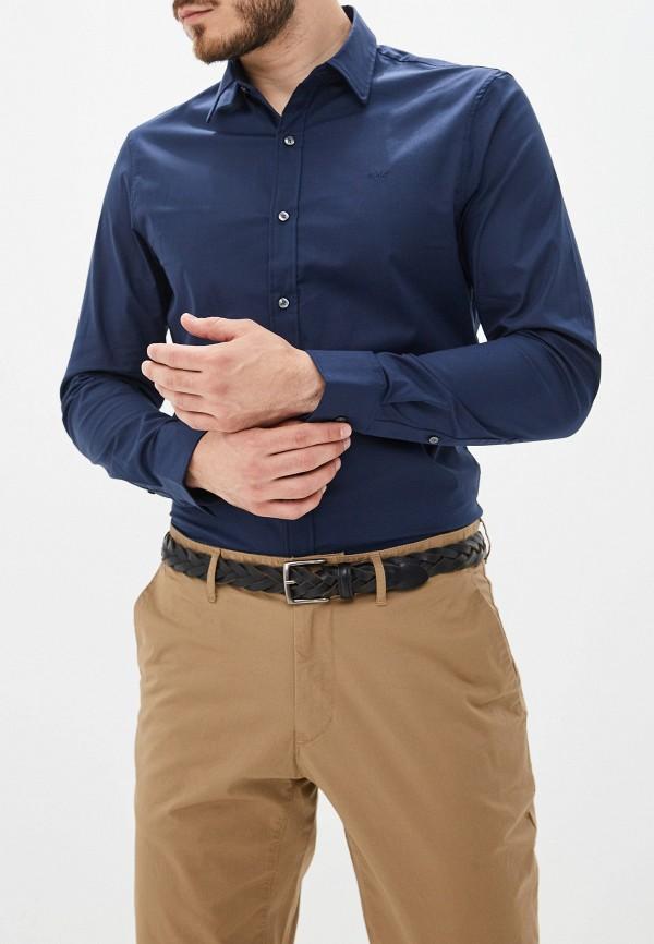 Купить мужскую рубашку Michael Kors синего цвета
