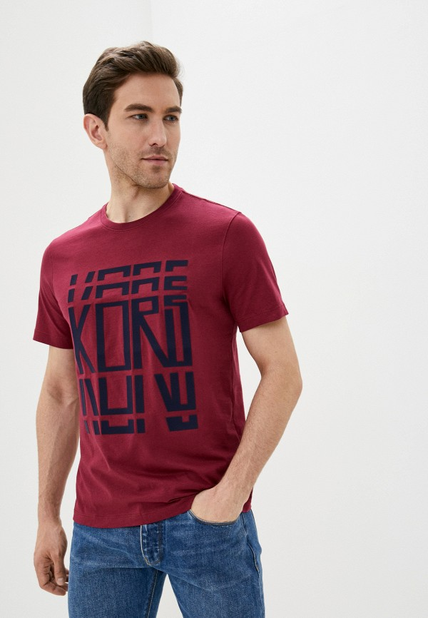 мужская футболка michael kors, бордовая
