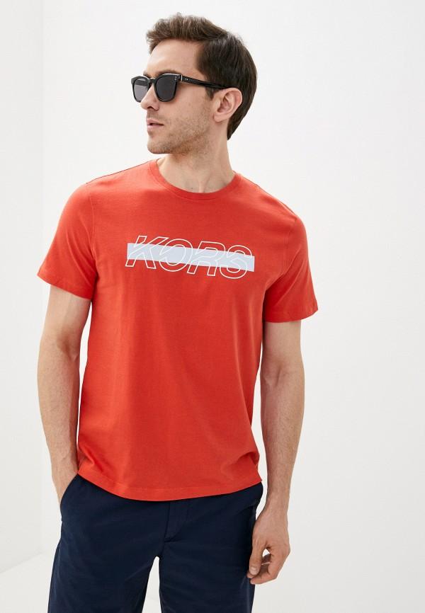 мужская футболка michael kors, оранжевая
