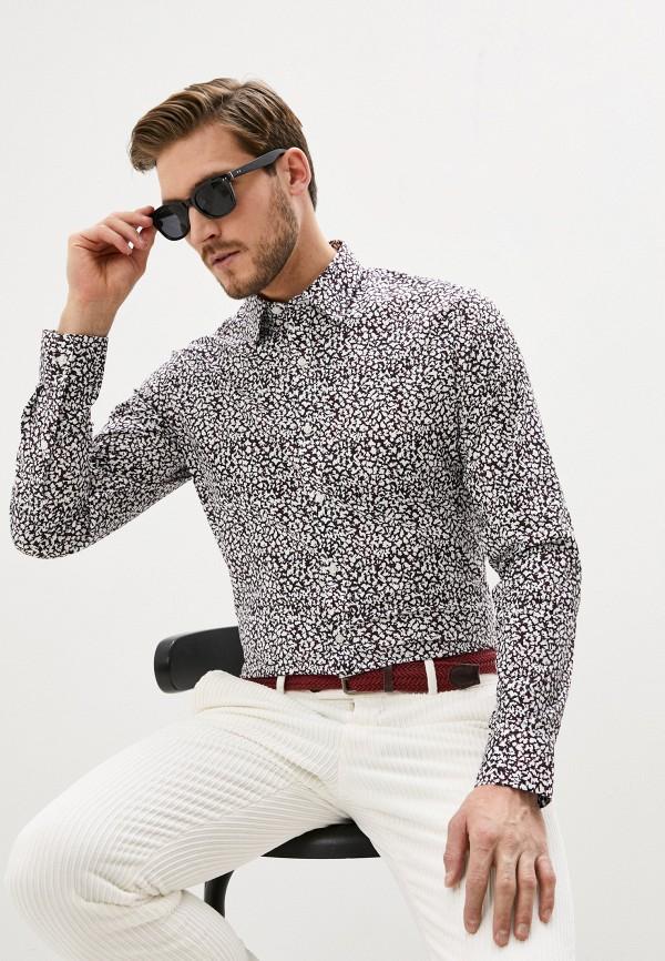 мужская рубашка с длинным рукавом michael kors, бордовая