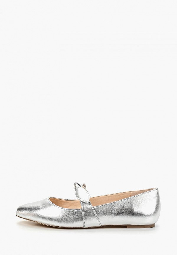 женские балетки mint&berry, серебряные