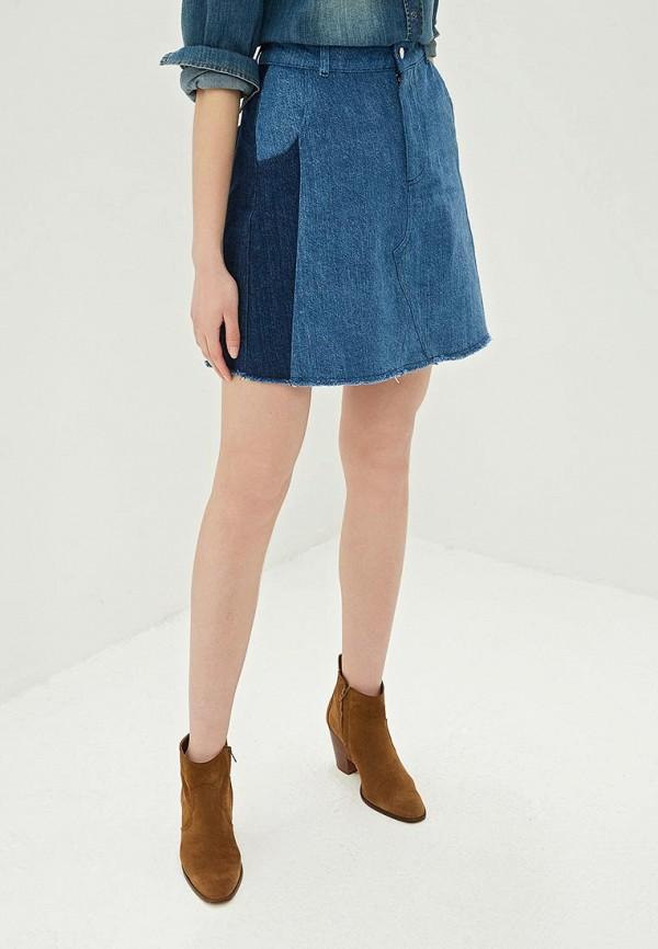 женская джинсовые юбка mint&berry, синяя