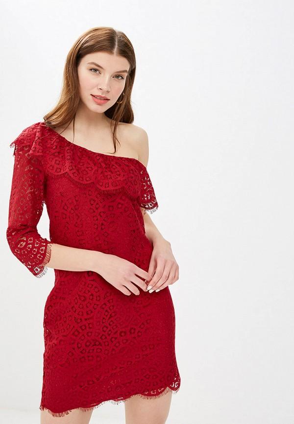 женское вечерние платье mint&berry, бордовое