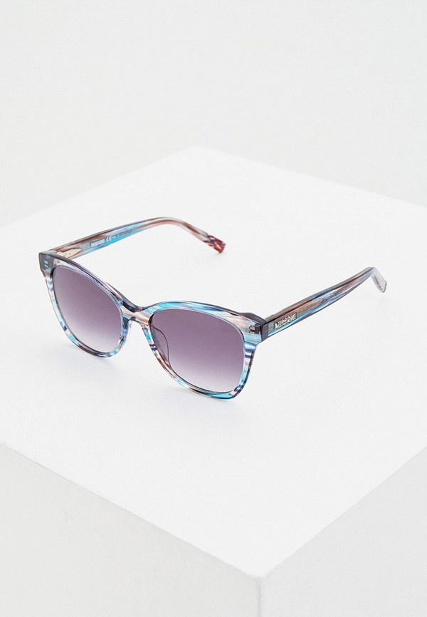 женские солнцезащитные очки missoni, бирюзовые