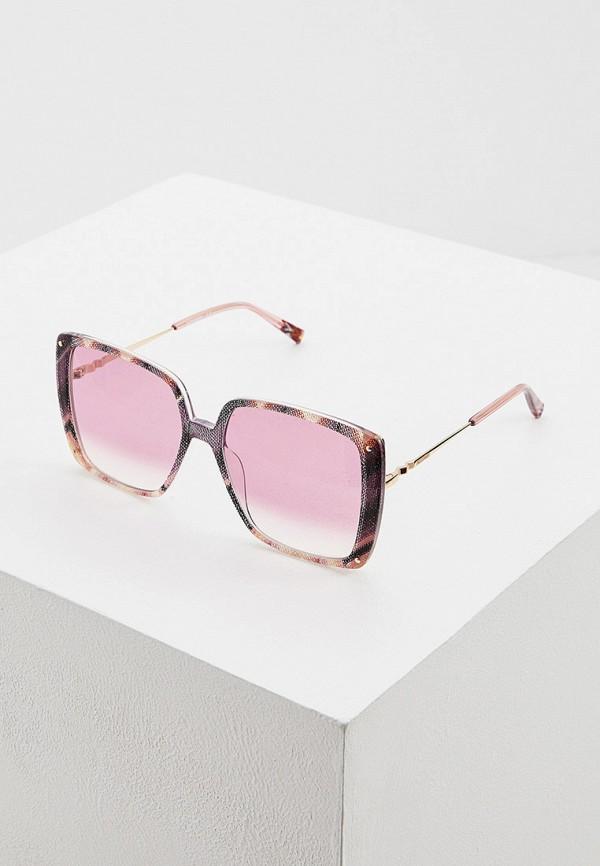 женские солнцезащитные очки missoni, розовые
