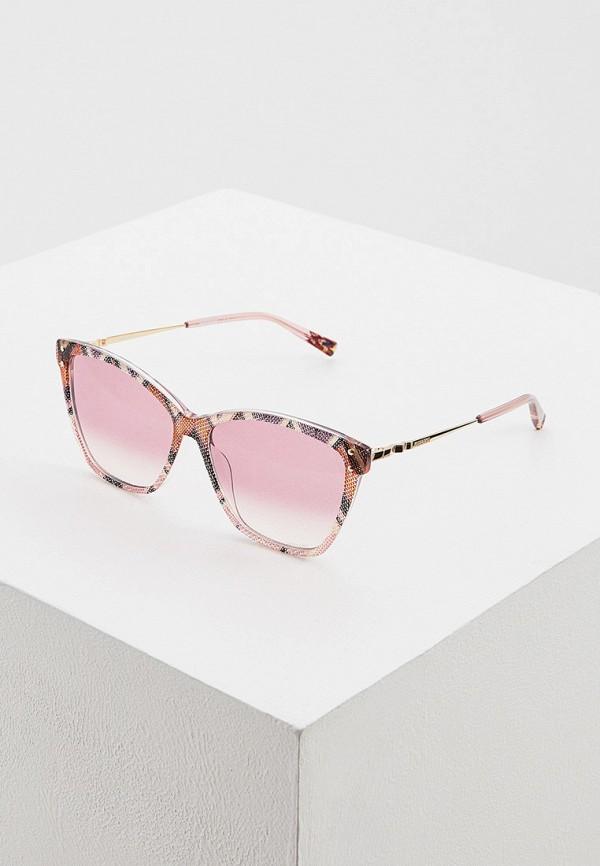 женские солнцезащитные очки missoni, разноцветные