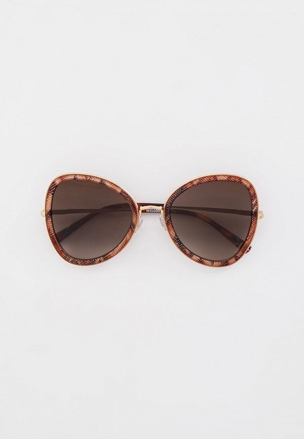 женские солнцезащитные очки missoni, коричневые
