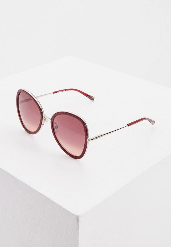 женские солнцезащитные очки missoni, бордовые