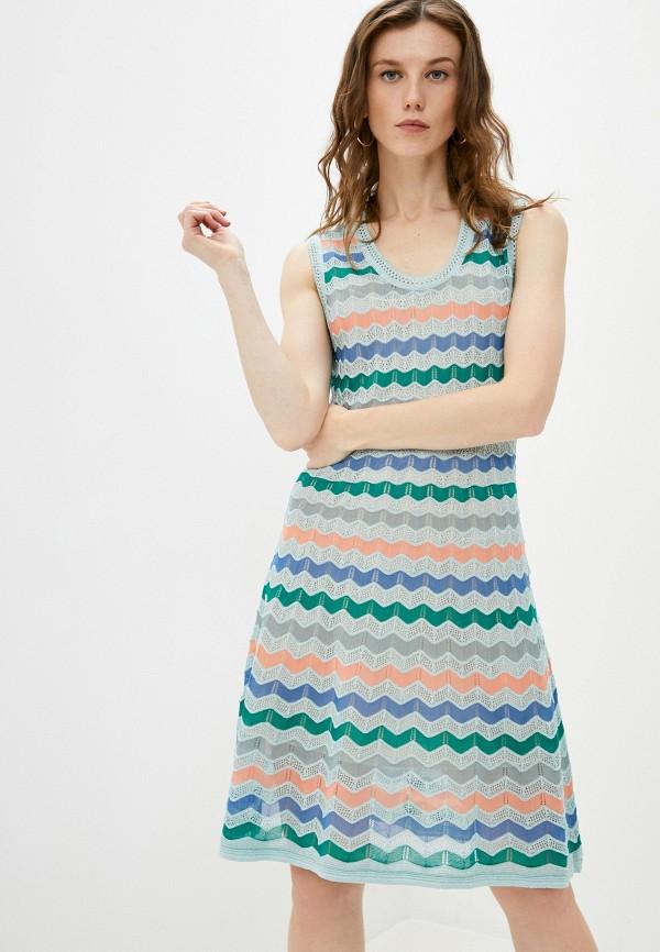 женское повседневные платье missoni, разноцветное