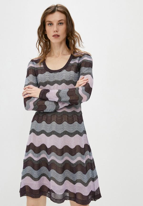 женское повседневные платье missoni, фиолетовое