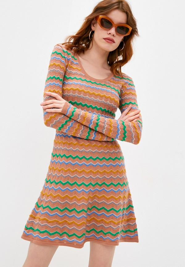 женское платье-свитеры missoni, бежевое