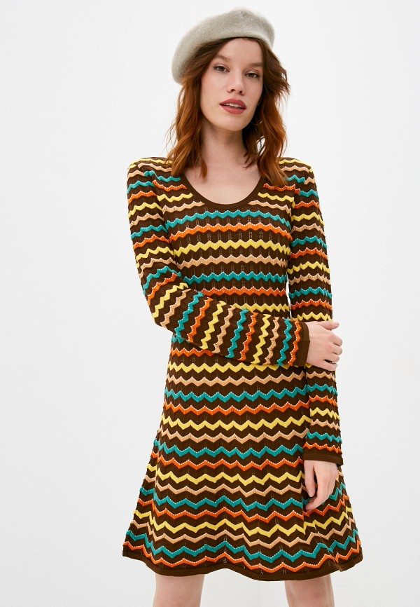 женское платье-свитеры missoni, коричневое