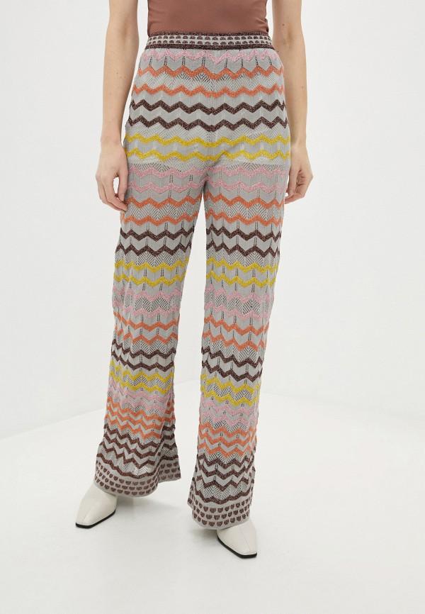 женские повседневные брюки missoni, разноцветные