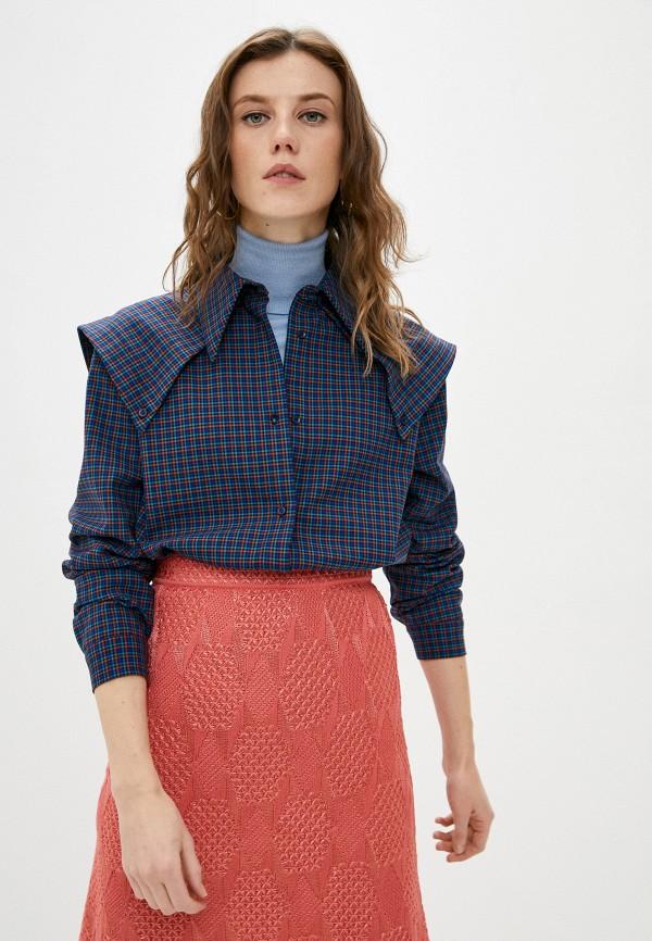 женская рубашка с длинным рукавом missoni, синяя