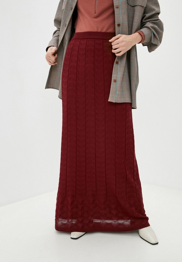 женская юбка missoni, бордовая