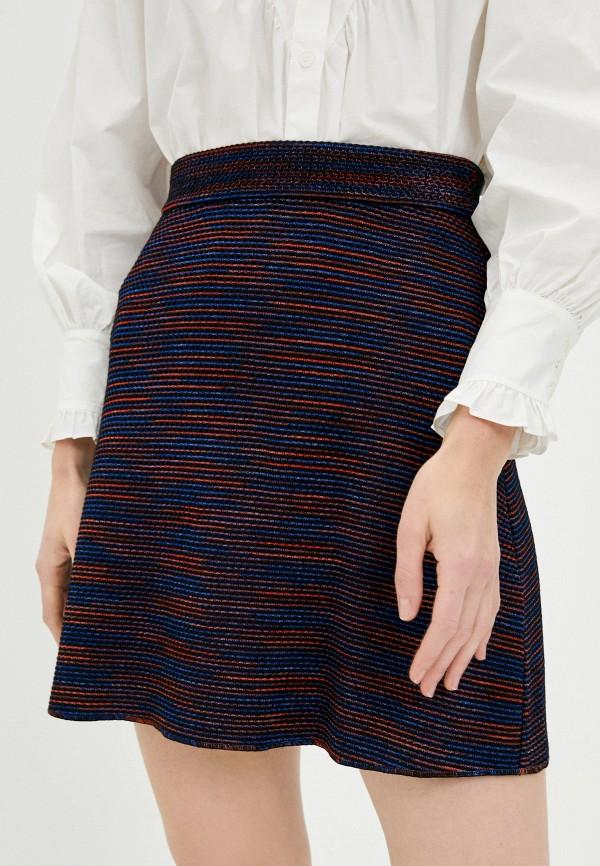 женская юбка-трапеции missoni, синяя