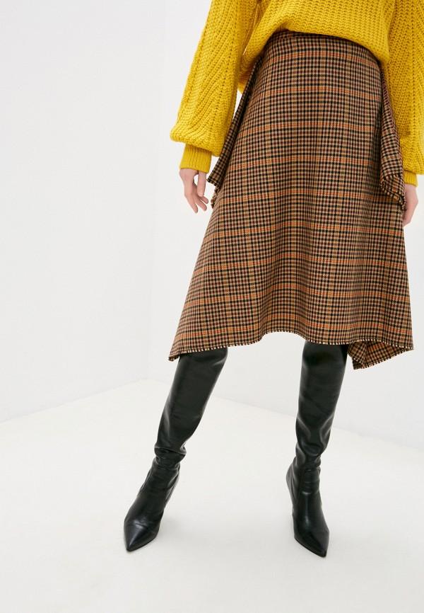 женская юбка missoni, коричневая