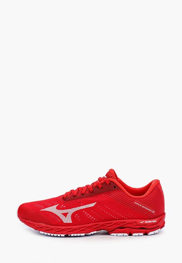 мужские низкие кроссовки mizuno, красные