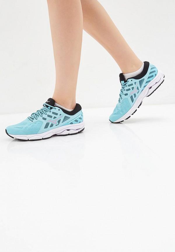 Фото 6 - женские кроссовки Mizuno голубого цвета