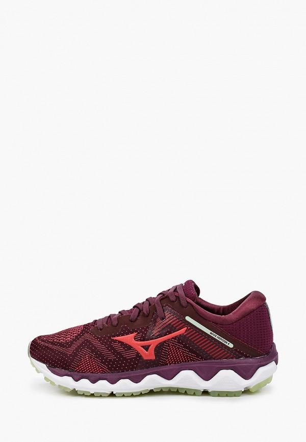 женские кроссовки mizuno, бордовые