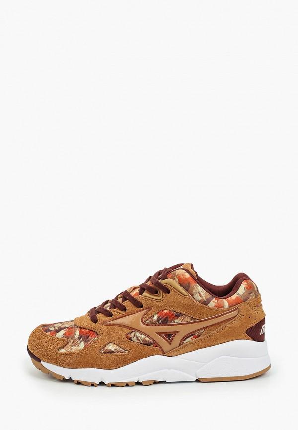 женские кроссовки mizuno, коричневые