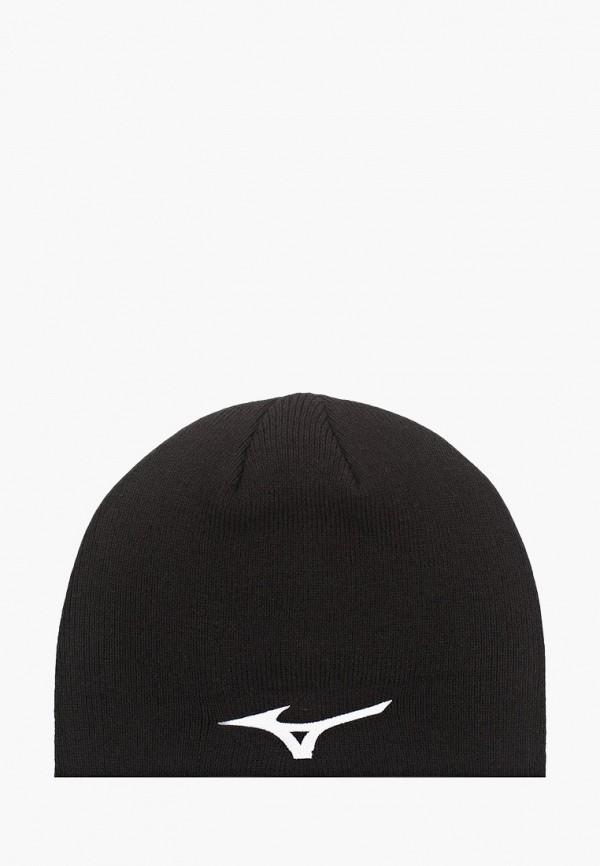 женская шапка mizuno, черная