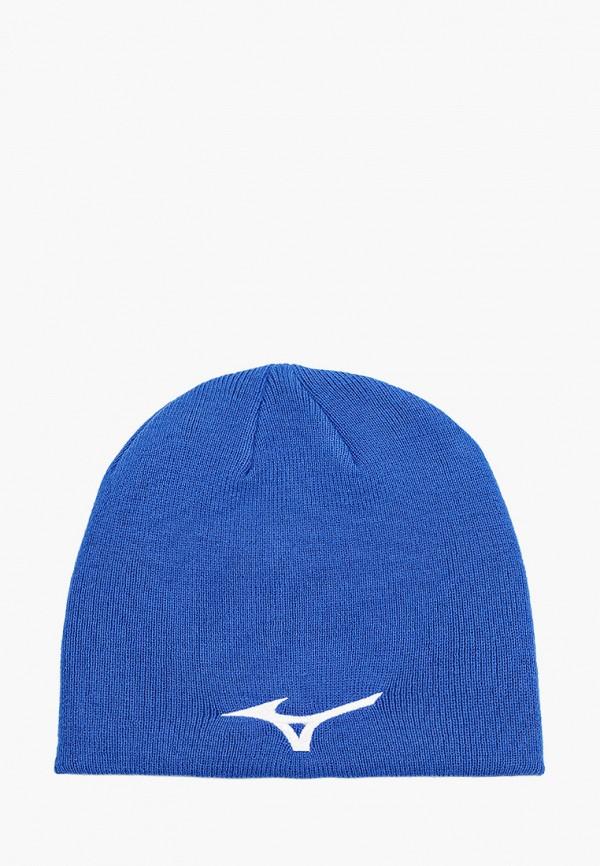 женская шапка mizuno, синяя