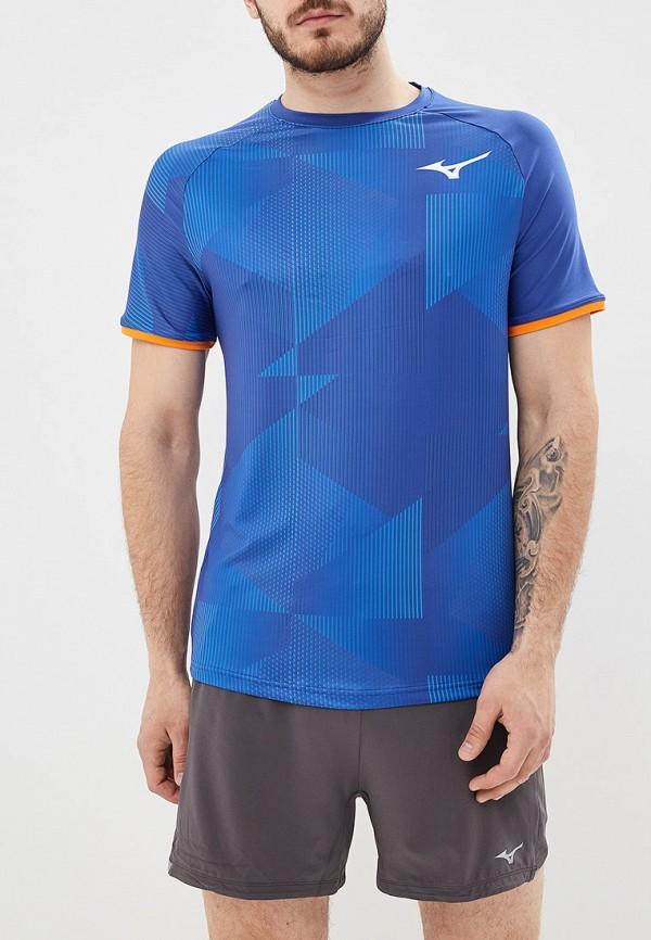 мужская спортивные футболка mizuno, синяя