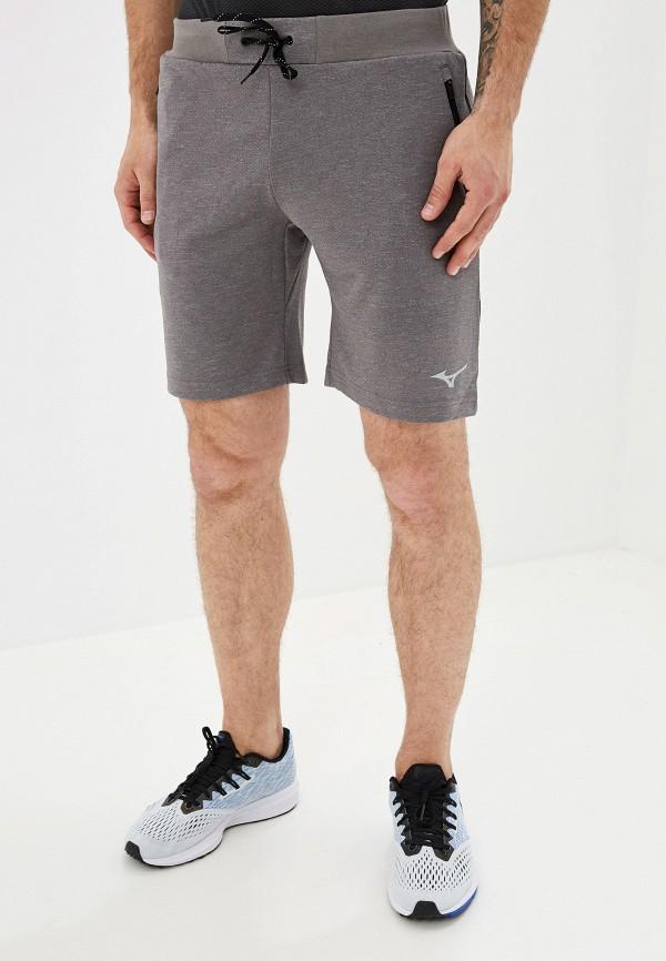 мужские спортивные спортивные шорты mizuno, серые