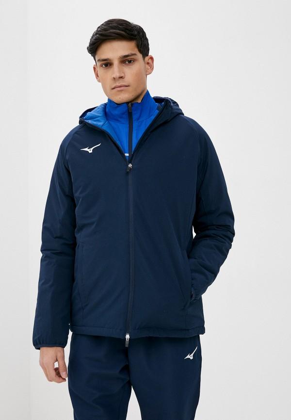 мужская куртка mizuno, синяя
