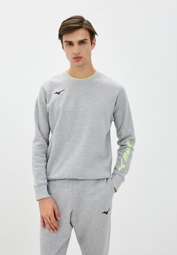 мужской свитшот mizuno, серый