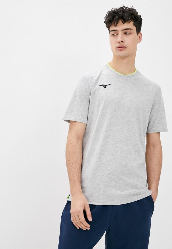мужская спортивные футболка mizuno, серая