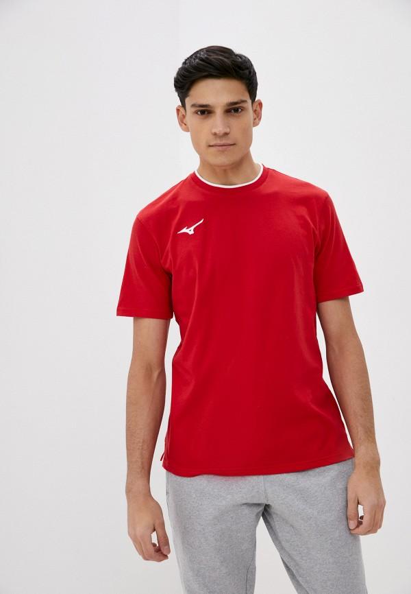 мужская спортивные футболка mizuno, красная